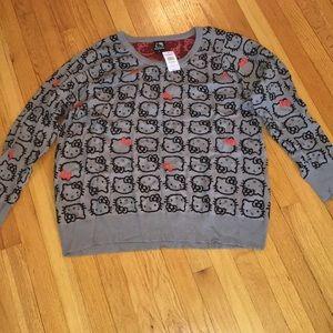 BNWT Torrid Hello Kitty grey sweater!